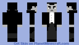 Count Dracula (1931)- Grayscale Minecraft Skin Contest entry Minecraft