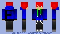 Blue Fire hoodie Minecraft Skin