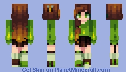 green bee Minecraft Skin