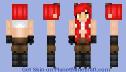 Human with Foxy's Clothes Minecraft Skin