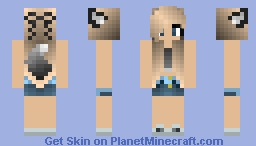 WereWolf girl ._. Minecraft Skin