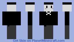 Grey Suit Man Minecraft Skin