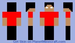 Herobrine with cool red merch Minecraft Skin