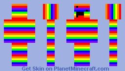 Literal Rainbow Derp Minecraft Skin