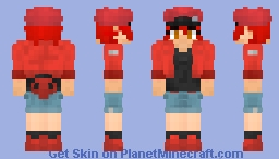 Red Blood Cell - [Cells at Work] Minecraft Skin