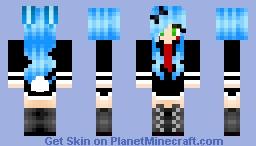 Toy bonnie in school uniform Minecraft Skin