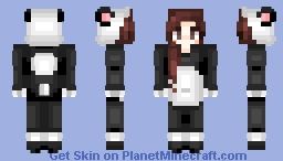 🐼 The Heart Of The Pandas || Jessica Panda Suit - Skin Request 🐼 Minecraft Skin