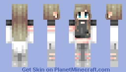 her pants are a bit low ill admit Minecraft Skin