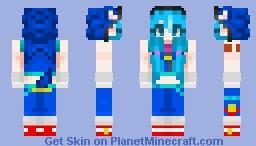 Sonic Style Miku Minecraft Skin
