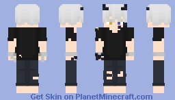 Half-Dragon, Half-Human minecraft skin Minecraft Skin