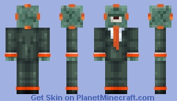 Guardian in a Suit Minecraft Skin