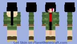 Beautiful Army Girl Minecraft Skin