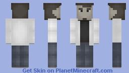 ben in white jacket Minecraft Skin