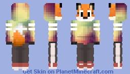 Fox in hoodie Minecraft Skin