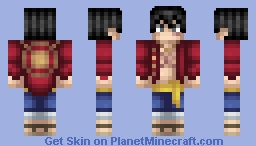 One Piece - Monkey D. Luffy Minecraft Skin