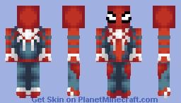 Spiderman ps4 Minecraft Skin
