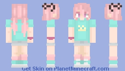 Alternative Happy Loli Skin from Eds Minecraft Skin