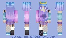 luck  ☘️  Galactic Queen Minecraft Skin