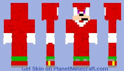 Knuckles the Echidnia Minecraft Skin