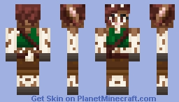 Piebald Doe Adventurer Minecraft Skin