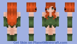Poison Ivy-Batman Animated Series Minecraft Skin