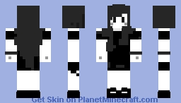 Black and White: Cora Minecraft Skin