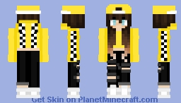 Aesthetic girl Minecraft Skin