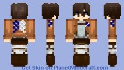 Attack on Titan: Standard Survey Corp. Soldier (Base) Minecraft Skin