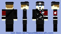 German WW2 SS Officer Uniform Minecraft Skin