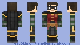 Robin | DC Titans Series (Better in 3D) Minecraft Skin