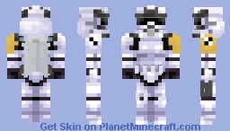 Star Wars | Rocket Trooper Commander Minecraft Skin