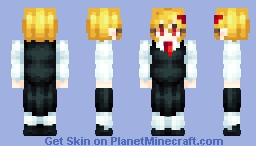 Touhou | Rumia Youkai of the Dusk Minecraft Skin