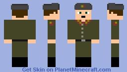 Soviet Soldier 1957 Minecraft Skin