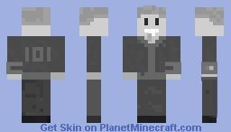 Black And White Vault Boy Minecraft Skin