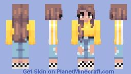 yelo aesthetic my dudes (alts in desc!!) Minecraft Skin