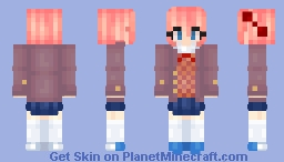 Doki Doki Literature Club - Sayori Minecraft Skin