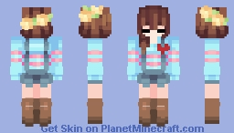 Undertale ~ Frisk The Human Minecraft Skin