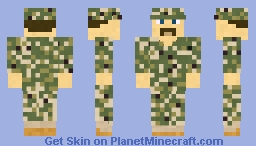 Modern US Navy Sailor: Type 3 Navy Working Uniform (NWU) Minecraft Skin