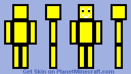 Yellow Cubic Template Minecraft Skin