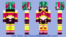 Raspberry Monster (better in 3D I swear) Minecraft Skin