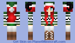 Old Cleora Christmas skin redhead with horns Minecraft Skin