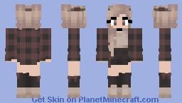 Cute girl with warm jacket Minecraft Skin