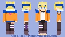 Boruto Uzumaki (Naruto Jacket) Minecraft Skin