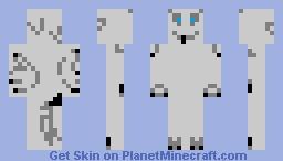 Silver Dragon (not the best) Minecraft Skin