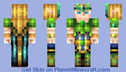 Taric the Shield of Valoran (Emerald Taric) Minecraft Skin