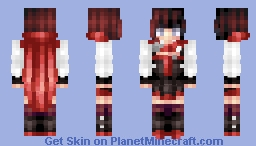 Memora | Red like Roses Minecraft Skin