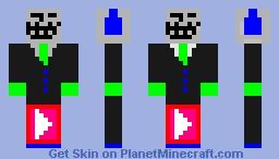 petit troll pvp ou bed wars vous faite style de etre retourner et non c est le troll Minecraft Skin