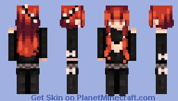 the world was on fire and no one could save me but you Minecraft Skin