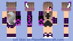 Девочка с технологичной рукой Minecraft Skin