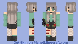 ⇜ тєα~ | paper нearтѕ [CE] Minecraft Skin